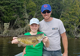 Father Daughter Bass Catch
