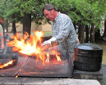 Bob cooking up his famous fries