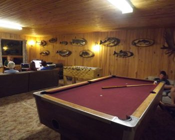 Game Room at Rainbow Point Lodge
