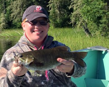 Holly's bass fishing day