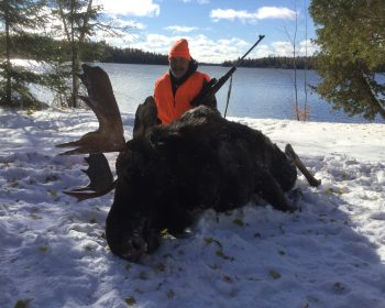 Mike's successful Moose hunt at Rainbow Point Lodge