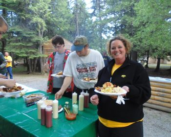 All smiles here at Rainbow Point Lodge Fish Fry
