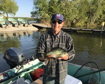 Big crappie caught on Perrault Lake