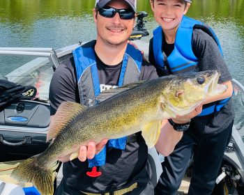 Family fishing and trophy walleye fishing at Rainbow Point Lodge on Perrault Lake, Ontario, Canada